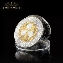 Nova moeda ripple xrp crypto comemorativa ripple xrp colecionadores moeda presente