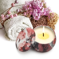 Aromatherapy Candles Kit Natural Soy Wax Smokeless Scented Candles Travel Tin Candles For Stress Relief And Aromatherapy