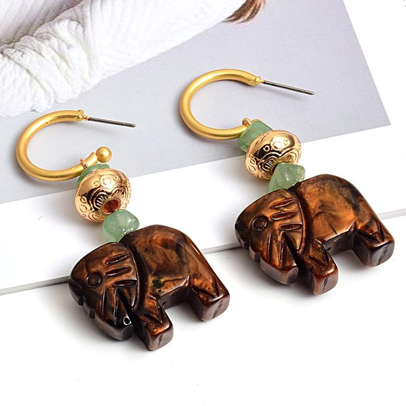 New fashion cute elephant earring High-quality Long Drop Earrings Wholesale Jewelry Accessories For Women