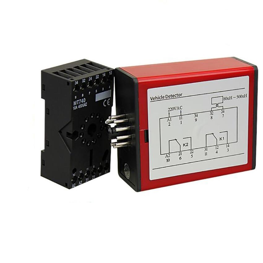 1 Set Vehicle Loop Detector AC220V 50HZ Single Channel Inductive Detector Sensor For Car Parking Lot Gate Traffic Control