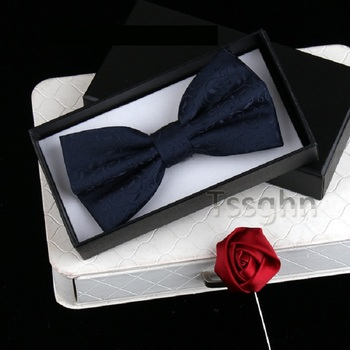 2020 New Fashion Men's Bow Ties Wedding Double Fabric Leaf Pattern BowTie Banquet Show Party Formal Butterfly Tie with Gift Box