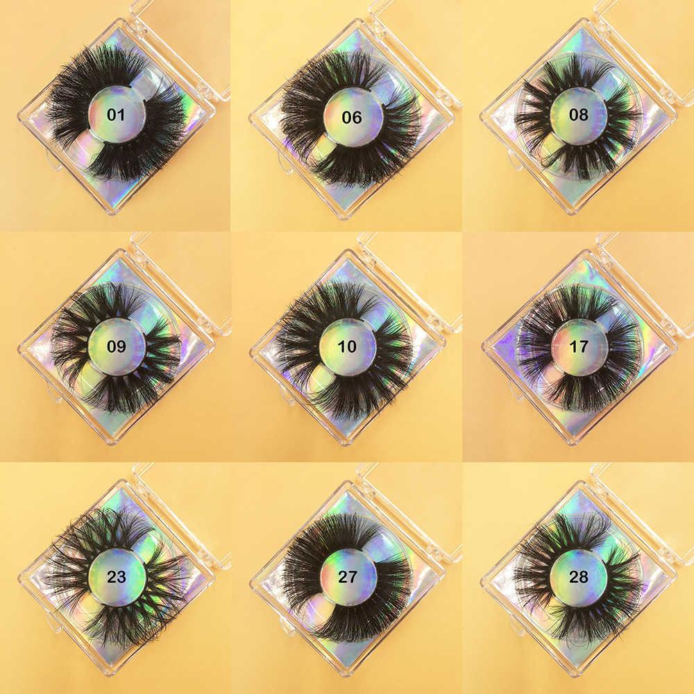 3D Nerz Wimpern Großhandel Dramatische Lange 25mm Falsche Wimpern Verlängerung Make-Up 5D Magnetische Wimpern Anbieter Nerz Wimpern Groß