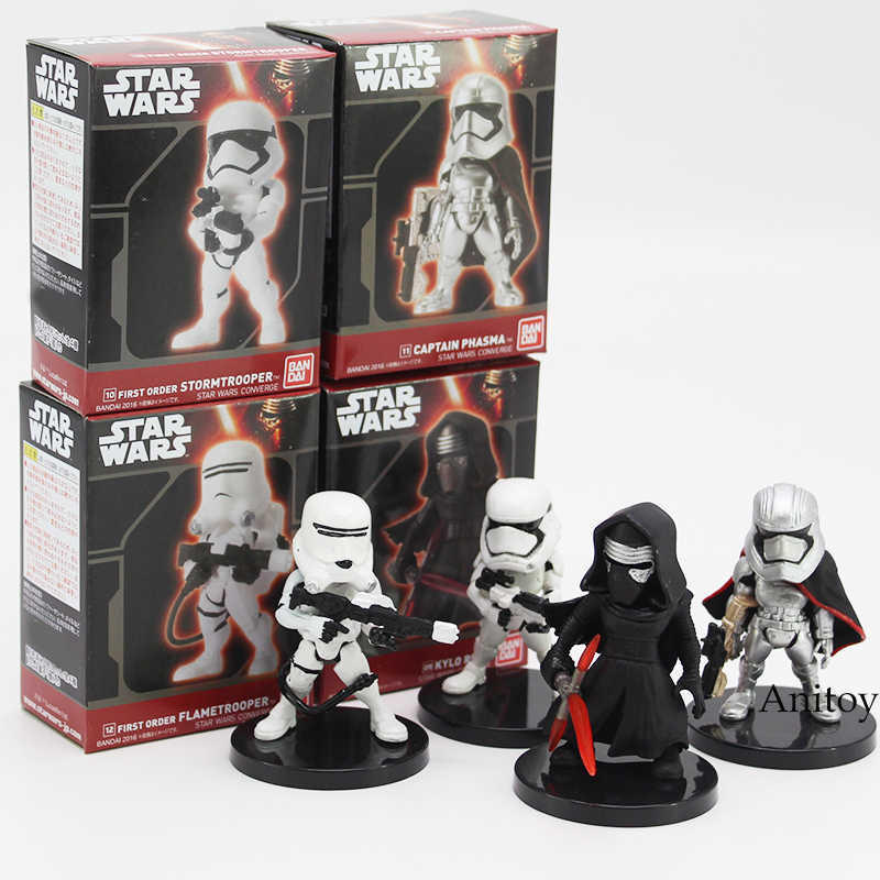 Star Wars 4 Pcs/set Flametrooper Mini PVC Figure Collectible Model Mainan Kotak