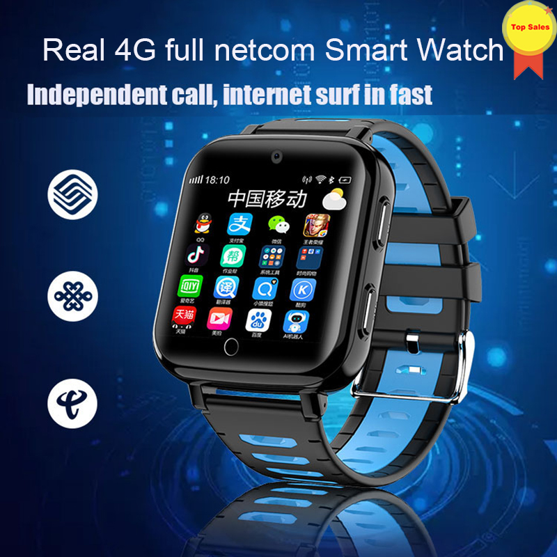 Nouveau mode enfants montre intelligente ip68 réel étanche natation style 4G carte sim GPS SOS WIFI Android intelligent gps montre garçon fille bébé