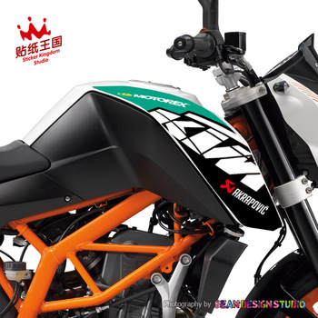 1 par para KTM 2014-2017 Duke 200 390 kit de almohadillas de tanque pegatina impermeable para motocicleta