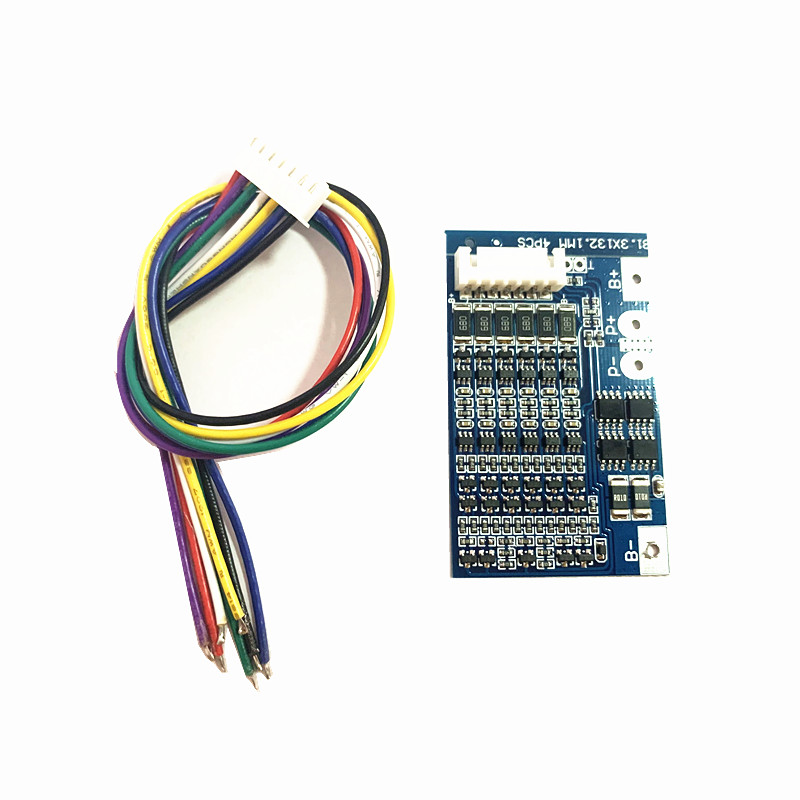 Balance BMS 6S 20A 22 2V lithium battery protection board 18650 lithium battery protection board 25 2V anti overcharge Lipo BMS in Battery Accessories from Consumer Electronics