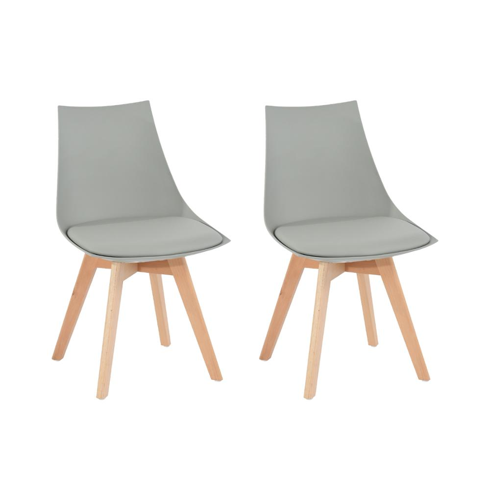 EGGREE Set Of 2pcs Mint Padded Dining Chair For Dining Room, Living Room And Bedroom - Grey - 2-8days EU Warehouse