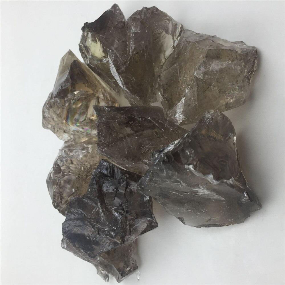 "NATURAL Smoky Quartz 1/"" Set of 4 Pieces Rock Mineral Specimen Healing Crystal"