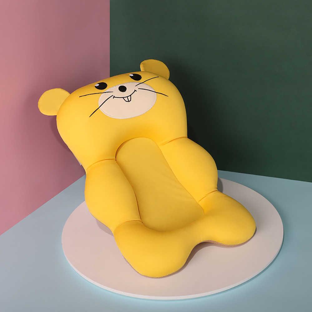 SONDR נייד תינוק אמבטיה מושב קריקטורה סגנון מתקפל מחצלת תינוקות מקלחת תמיכה כרית תינוקות אמבט דברים אמבטיה