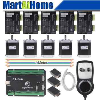 5 Axis CNC Stepper Driver Kit Mach3 Ethernet 460 KHz with MPG Controller for DIY CNC Router - DISCOUNT ITEM  5% OFF All Category