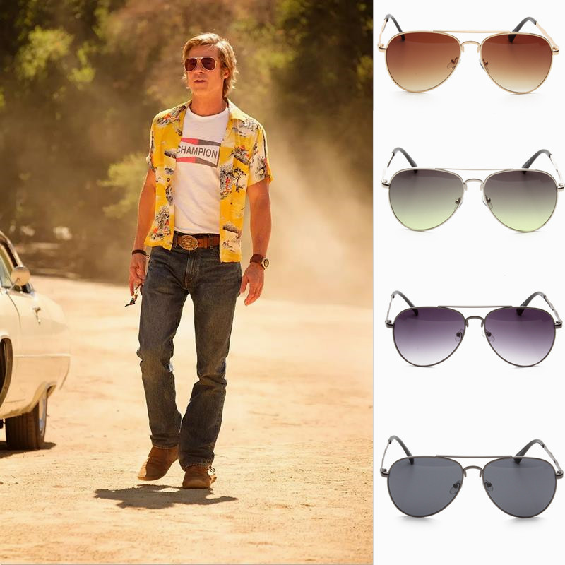 New Once Upon A Time In Hollywood Cosplay Accessories Cliff Booth And Rick Dalton Sunglasses Women Men Metal+PC Glasses Props
