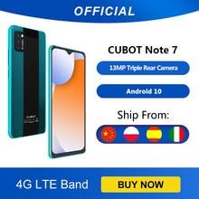 Cubot nota 7 Note 7 smartphone triplo camera13mp 4g lte 5.5 Polegada tela 3100mah android 10 cartão sim duplo rosto do telefone móvel desbloqueio 2GB+16GB