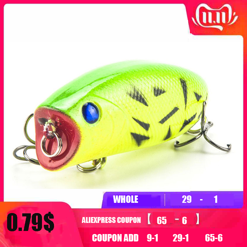 New Arrival 1pcs 11g 5.5cm Big Popper Fishing Lures 3D Eyes Bait Crankbait Wobblers Tackle Isca Poper Japan HQ007