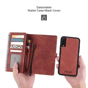 Image 4 - Premium Mutifuction Wallet Phone Cover For Samsung A70 Bumper For Galaxy A50 A40 Flip Leather Case Card Slots Holder Magnetic