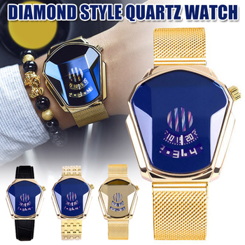 New Hot Diamond Style Quartz Watch Waterproof Fashion Steel Band Quartz Watch for Men Women