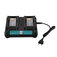 4A Portas Dupla Li Ion Carregador de Bateria para Makita 14.4V 18V BL1830 BL1840 BL1845 BL1850 BL1860 BL1850B BL1860B BL1430 CHAMT 2042 P|Irrigadores orais| |  -