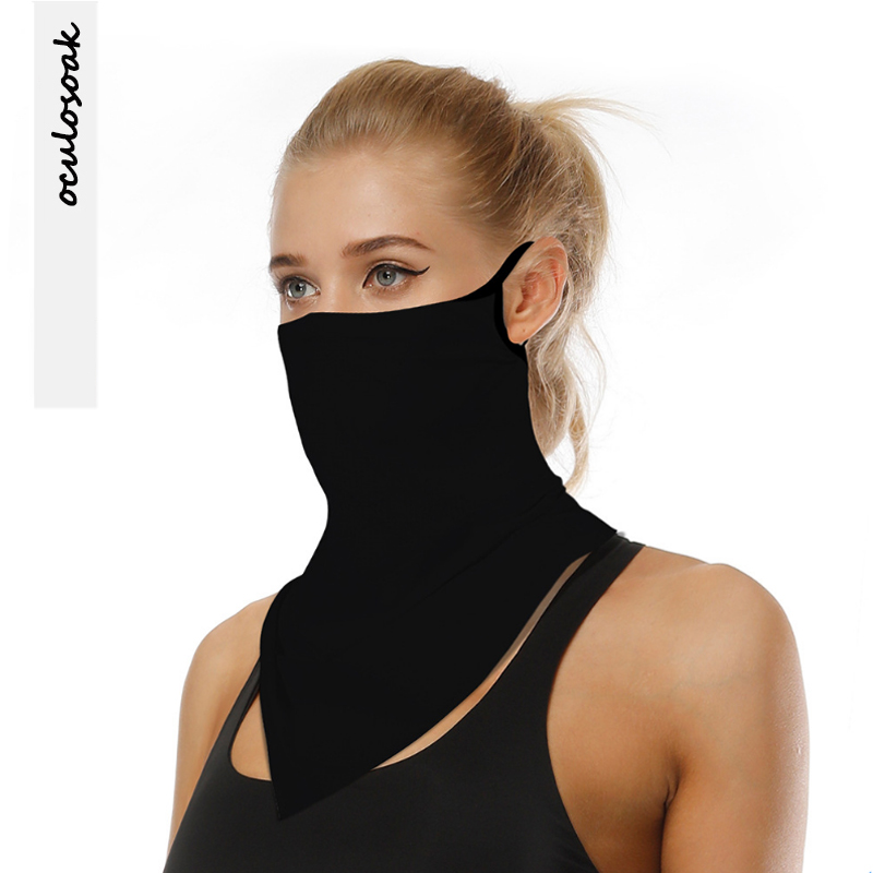 Explosive New Product Solid Color Outdoor Sports Riding Sunscreen Insect Repellent Mask Multifunctional Hanging Ear Scarf Mask