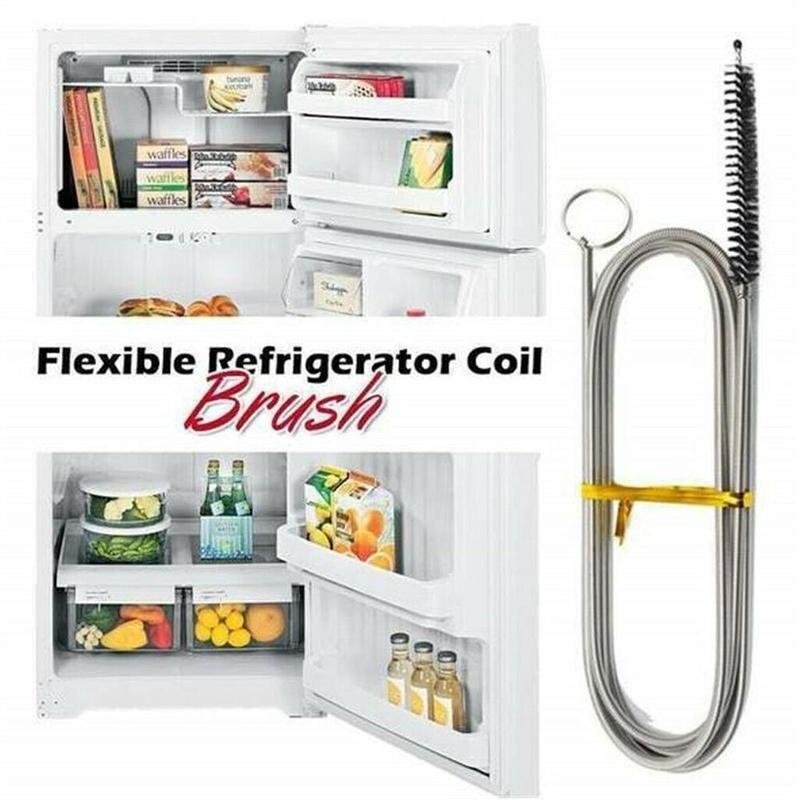 Long Flexible Refrigerator Scrub Brush