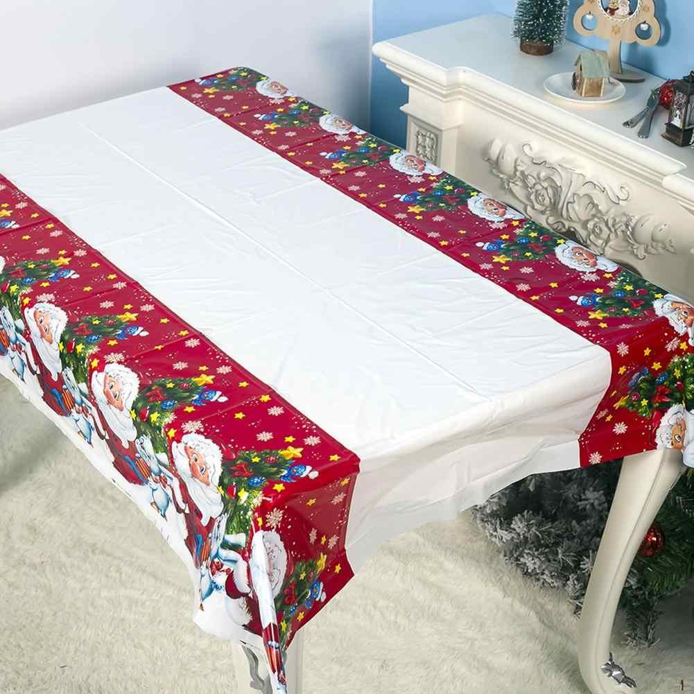 חג המולד סנטה שולחן כיסוי כרית מפת מחצלת PVC עמיד למים מסיבת חג דקור שולחן העבודה עיצוב הבית שולחן בד