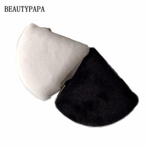 Image 2 - Beautypapa 2pcs (Black and White ) Triangle Velvet Powder Cosmetic Puffs Mini Makeup sponge Make up tools