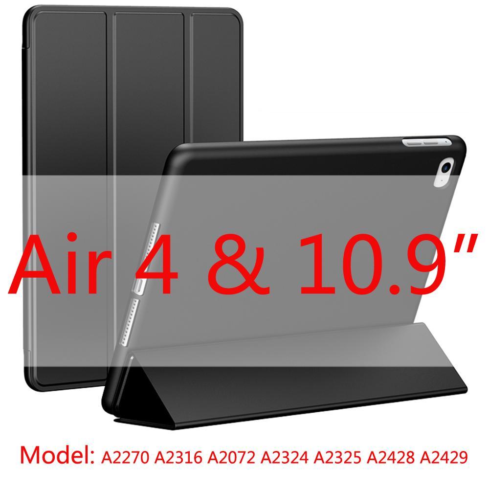black-Air4 White 2020 New Soft Silicone Case For ipad Air4 with Smart Sleep Wake Funda Capa Case for