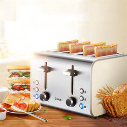 Toaster Oven Tostadora de pan Mini Toaster Home Kitchen Appliances Cooking Breakfast Four Slots Toaster Spit Driver Heating
