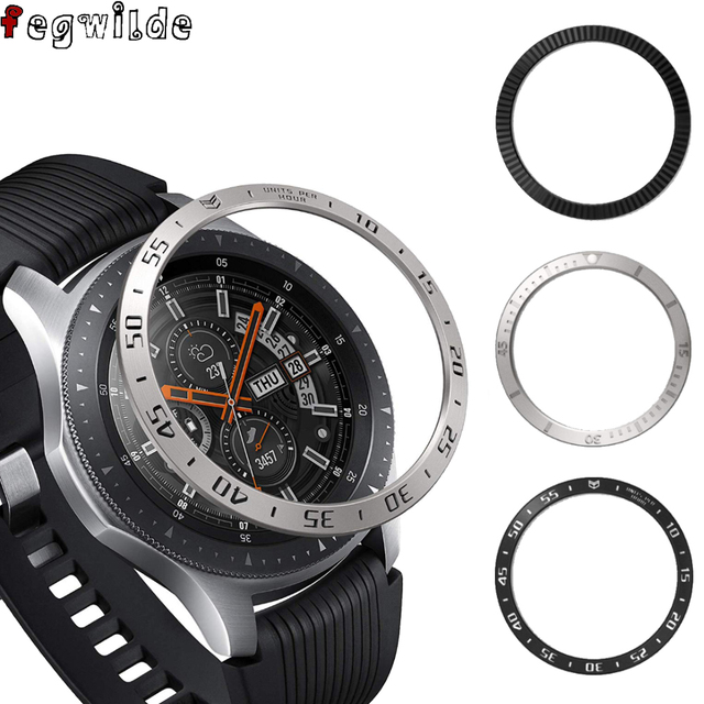 bezel Ring For Samsung Galaxy Watch 46mm Gear S3 Frontier Metal Cover Anti Scratch Cover accessories galaxy watch 3 45mm 41mm