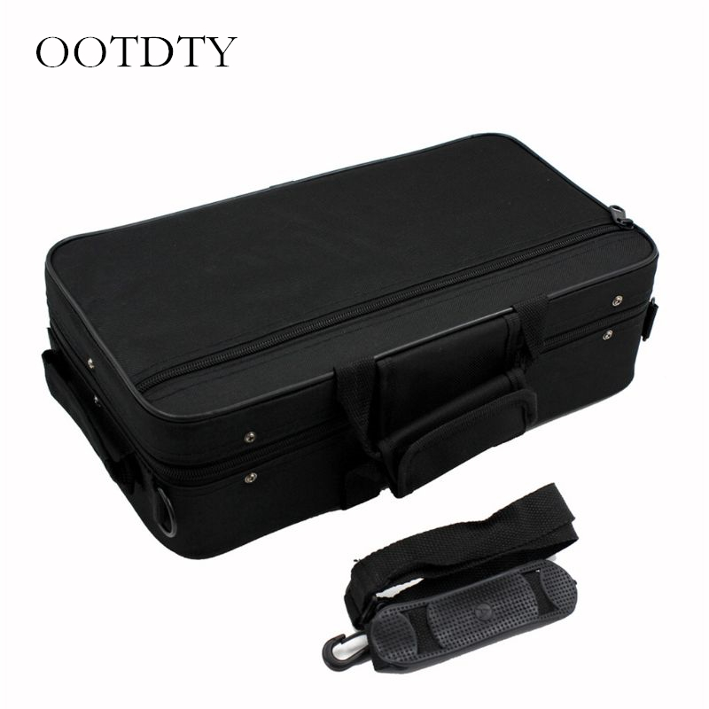 Black Foam Padded Thicken Oxford Cloth Storage Bag Clarinet Box Case With Handle Strap Clarinet Protection Accessories