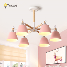 TRAZOS Nordic Pendant Lamps For Bedroom Reading Wall Sconce Bedside Luminaira Modern Wooden E27 Mounted Lighting Fixtures