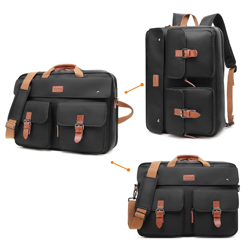 Handbag Business Briefcase Rucksack Convertible Backpack Laptop Bag Shoulder Messenger Case