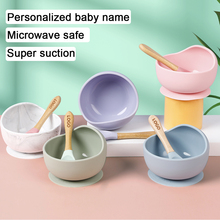 1set Waterproof Spoon Non-Slip Crockery Silicone Baby Feeding Bowl Tableware  BPA Free Silicone Dishes for Baby Bowl Baby Plate