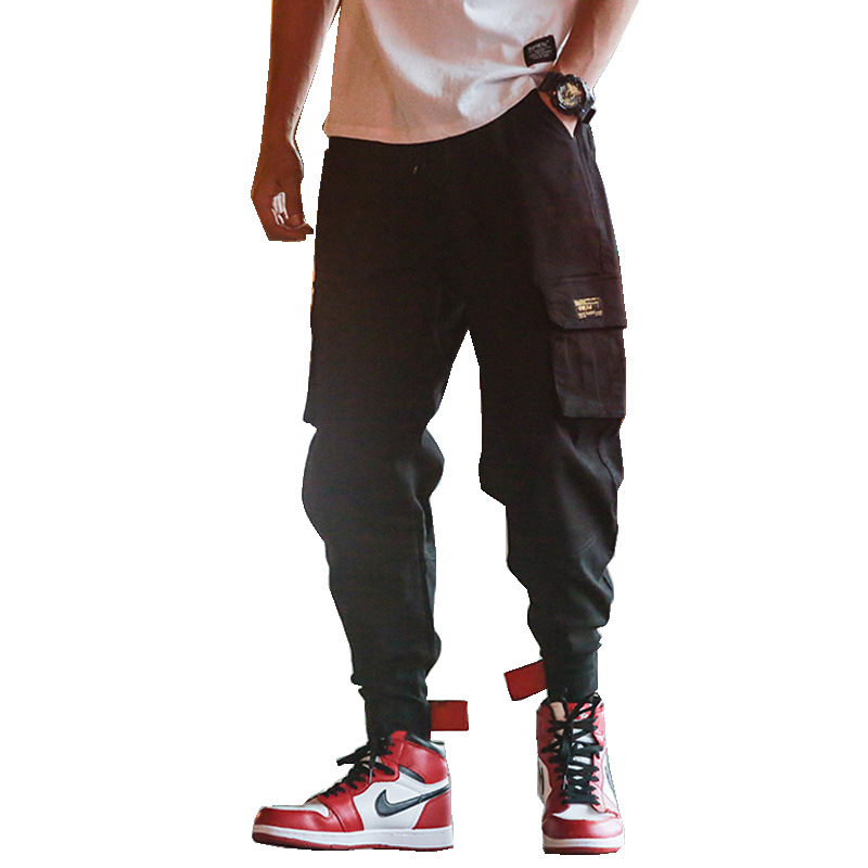 Mens Tactical Cargo Pants Streetwear Pants Military Hip Hop Sweat Pants Joggers Trousers Male Harem Pants Beam Casure Overalls