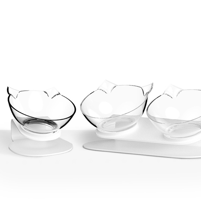 Non-slip Cat Bowls Double Pet Bowls With Raised Stand Pet Food and Water Bowls For Cats Dogs Feeders Pet Products Cat Bowl 4