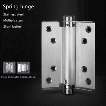 Stainless steel double spring hinge free door double spring hinge single spring hinge invisible door hinge фото