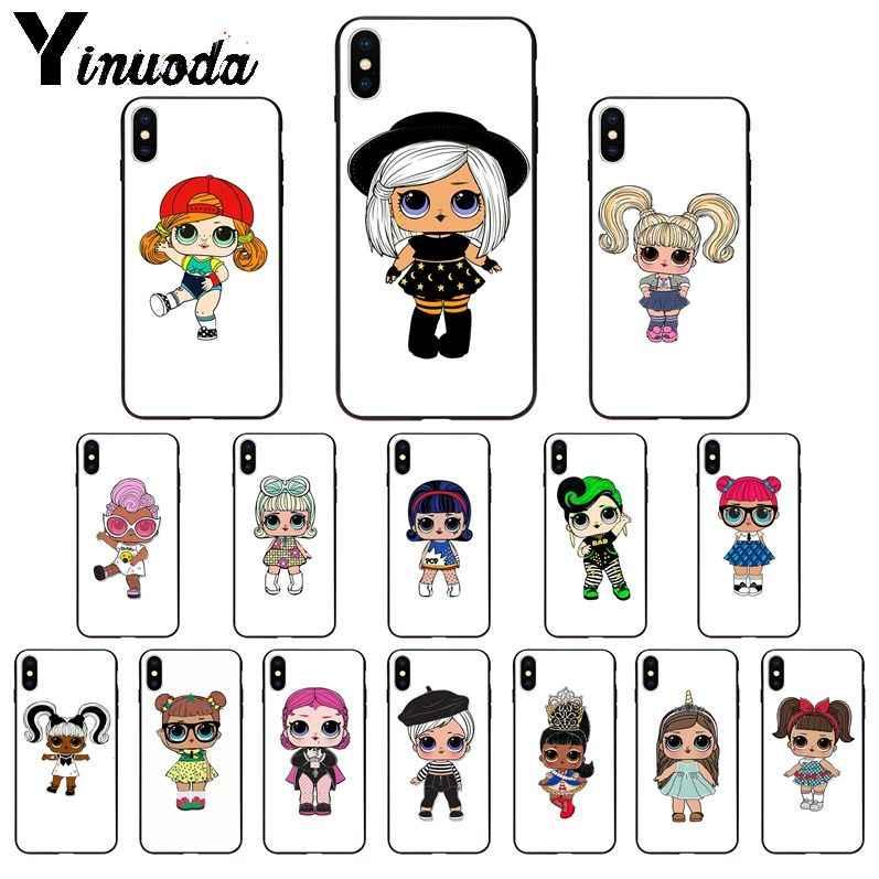 Yinuoda لطيف مفاجأة دمية بولي TPU لينة غطاء إطار هاتف محمول لابل آيفون 8 7 6 6S زائد X XS ماكس 5 5s SE XR 11 11pro ماكس غطاء