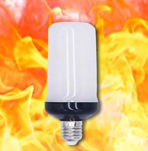 Новая желтая светодиодный Синяя светодиодная лампа с пламенем, 85-265 В переменного тока, 4 режима, огненный свет, 9 Вт, E27, E26, B22 Светодиодный све...