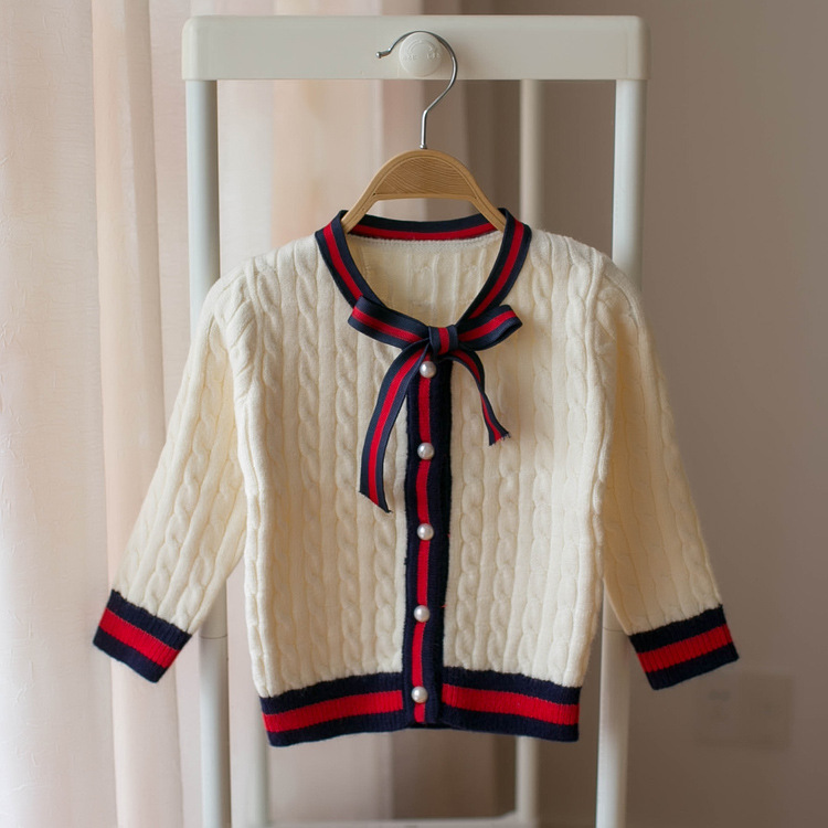 Female Baby Cotton Knitwear 2018 New Style Autumn Clothing Princess Clothes Infant Cardigan Sweater