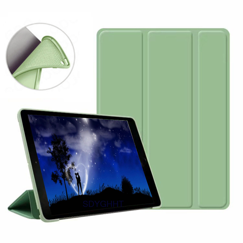 Matcha green 2 Navy Blue 2020 case For iPad 10 2 inch 8th 7th Generation model A2270 A2428 Silicone soft bottom