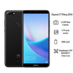 Huawei Y7 Prime 2018 5.99 ''Snapdragon 430 Octa Core 8MP caméra frontale 3000mAh 3GB RAM 32GB ROM téléphone portable