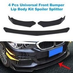 Universal Car Front Bumper Lip Splitter Lip Body Kit Spoiler Diffuser For BMW For Benz not only for Audi For VW For Subaru