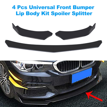 Universal Car Front Bumper Lip Splitter Lip Body Kit Spoiler Diffuser For BMW For Benz not only for Audi For VW For Subaru for 09 12 audi a4 b8 poly urethane front bumper lip spoiler