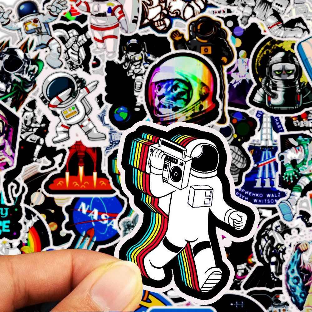 50 pçs/lote Estação Espacial Astronauta Dos Desenhos Animados Personalizado Adesivos Papelaria Pastas TZ126G Foguete Lunar Universo Adesivo À Prova D' Água