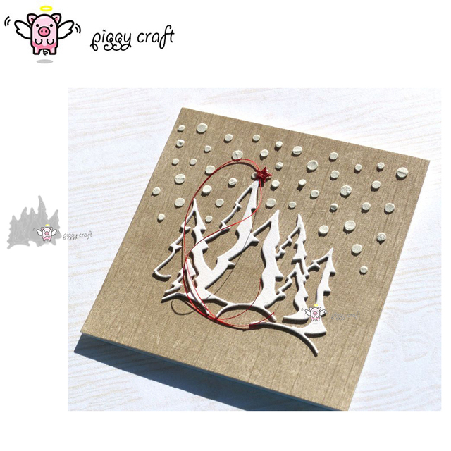 Piggy Craft metal cutting dies cut die mold Christmas tree decoration Scrapbook paper craft knife mould blade punch stencils die