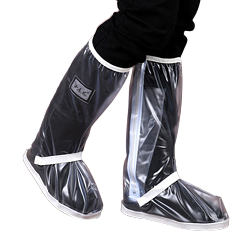 Shoe Cover For Men Women Rain Boots Waterproof With Thickened /Zipper/Elastic Bandage White image