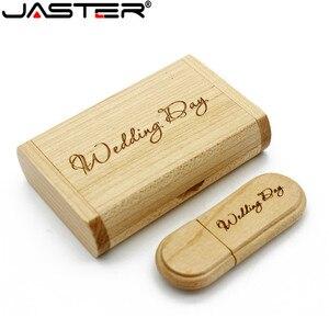 Image 3 - JASTER 1PCS משלוח מותאם אישית לוגו לייזר חריטת עץ + תיבת pendrive 4GB 8GB 16GB 32GB 64GB USB דיסק און קי צילום מתנה