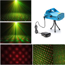 SPLEVISI Mini R&G Laser Star LED Stage Lighting Projector for Disco DJ XMAS Party Bar Pub Club Light Sound Activated