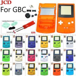 Image 1 - GBC 한정판 용 JCD 8 세트 Gameboy 컬러 게임 콘솔 용 쉘 교체 전체 하우징 + 전도성 d 패드 + 스크루 드라이버