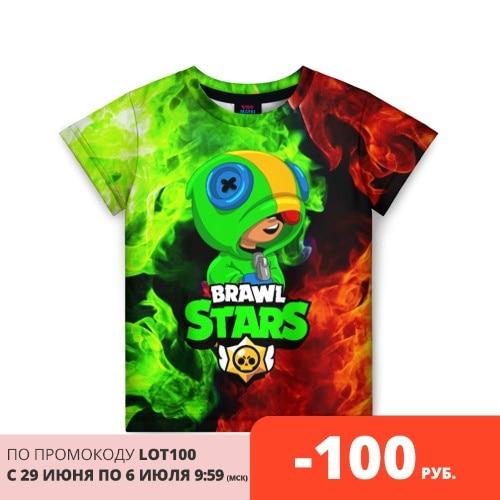 Детская футболка 3D BRAWL STARS LEON Тройники      АлиЭкспресс