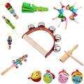 2021 детская деревянная погремушка, музыкальные инструменты, музыкальные деревянные игрушки-колокольчики, Детская красочная музыкальная иг...