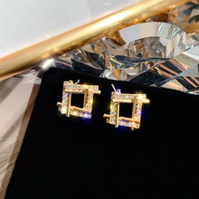 statement earrings 2019  square geometric earrings for women crystal luxury wedding rhinestone earring цена 2017